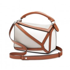 Loewe Small Puzzle Graphic Bag In Classic Calfskin