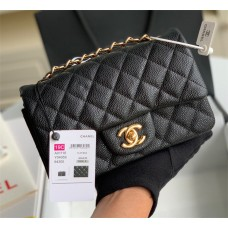 Classic Double Flap Bag Quilted Caviar 20CM