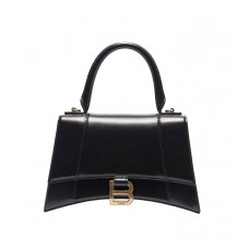 Balenciaga Hourglass Small Top Handle Bag in shiny box calfskin