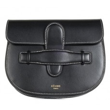 Céline Waist Black Leather Messenger Bag