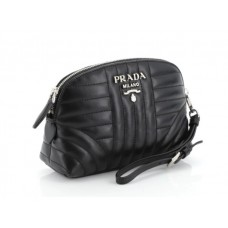 Prada Wristlet Pouch Diagramme Quilted Leather