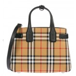 Burberry The Small Banner In Vintage Check And Leather 40769481