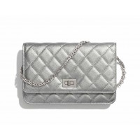 Chanel Grained Calfskin 2.55 WALLET ON CHAIN