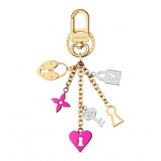 Louis Vuitton Love Lock Heart And Keys Bag Charm And Key Holder