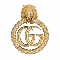 Lion head single earring with Double G