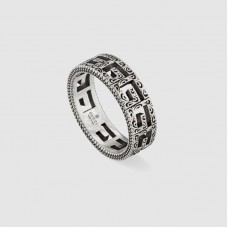 Silver ring with Square G