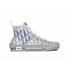 B23 high-top sneaker White and Blue Dior Oblique Canvas
