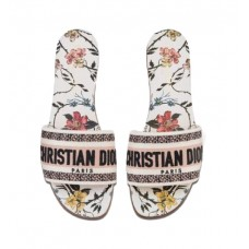 Dior Dway Slide Cotton Mbroidery For Women
