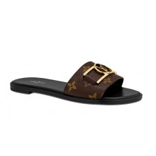 Louis Vuitton's Lock It flat mule 1A64MI