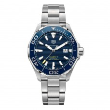 Tag Heuer Men'S Aquaracer 43Mm Steel Bracelet & Case Automatic Blue Dial Analog Watch Way201B.Ba0927