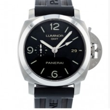 Panerai Luminor 1950 Pam 00320 Watch With Rubber Bracelet And Stainless Steel Bezel